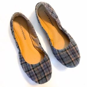Lucky Brand | Emmie plaid flannel flats